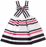 Rare Editions Summer Stripe Bow Dress