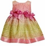 Bonnie Jean Easter Dress :  Spring PInk Stripe Bows  SOLD OUT