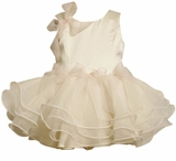 Bonnie Jean : Girls Dresses : Ivory Dress with Wire Hem  4 - 6X