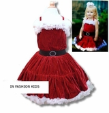 Santa Pettiskirt Dress - Claret Velour  Sold out