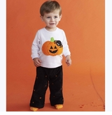 Mud Pie Boys Halloween Pumpkin Pant Set