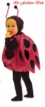 Infant or Toddler Ladybug Costume - Deluxe SATIN PADDED WINGS!!