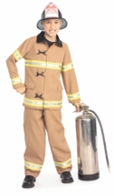 Child or Toddler Fireman Costume - Fire Fighter