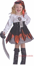 Kids Halloween Costumes - Girls DELUXE Pirate Costume - sold out