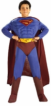 Child Superman Costume  - Muscle Chest - Deluxe