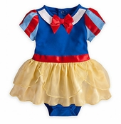 Baby Snow White Inspired Costume Bodysuit and Headband