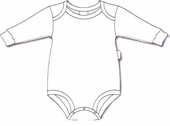 Baby's Own ~ Long Sleeved Bodysuit Tee -White - IN STOCK