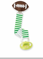 Mud Pie - Football Pacifier Clip - sold out