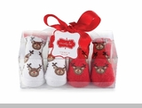 Reindeer Sock Set (2 PAIR Set)-sold out