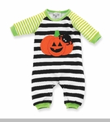 Mud Pie - Pumpkin One Piece Striped Coverall - sold out