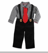 Mud Pie Boy's Holiday Set: Black 3-Piece Suit - SOLD OUT