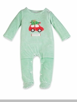 My First Christmas: Green Holiday Car Boy's One Piece