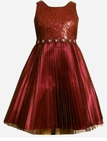 Burgundy Sparkling Dress -  SOLD OUT