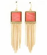 Coral Tassle Dangle Earrings  sold out