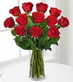 1 Dozen Long Stem Red Rose Bouquet  Monthly Rose Gift Plan