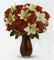 Red Rose & Lily Passion Bouquet Deluxe