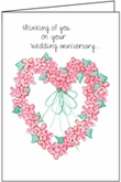W457H - Anniversary of Wedding Anniversary Cards