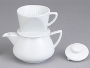 Porcelain Drip Coffee Maker With Pot 2.25 Cup Capacity