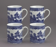 MUG SET BLUE WILLOW SET/4