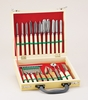 CARVING SET 22 PC WOOD CASE