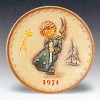 1971 Hummel Plate Heavenly Angel