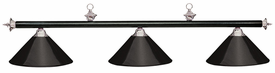 "57"" Black Leatherette & Brushed Chrome Bar (3 Black Shade)"
