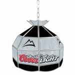 "16"" Coors Light Stained Glass Tiffany Lamp"
