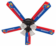 "NCAA 52"" Ceiling Fan, 5-Blade, LT Kit"