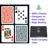 Copag Bridge Size Regular Playing Cards w/Case (Blue-Red)