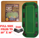 Texas Hold'em Folding Poker Top with Case