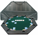 "Octagonal 52"" x 52"" Padded Poker Tabletop - Green"