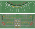 Blackjack and Craps 2-Sided Layout 36 x 72 inch