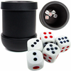 Black Heavy-Duty Dice Cup with 5 Dice