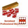 Serialized Set of Casino Dice 19mm - Red