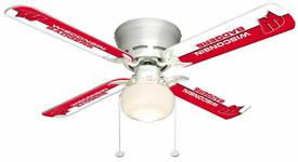 "NCAA 42"" Ceiling Fan, 4 Blade, Single Globe"