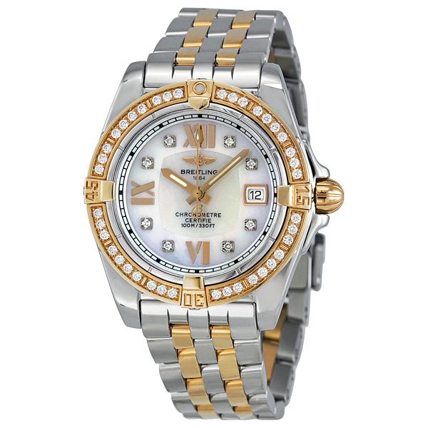 Breitling Cockpit Lady Diamond Rose Gold and Stainless Steel Ladies Watch C7135653-A668TT