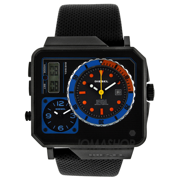 diesel time zone analog digital mens dz7243