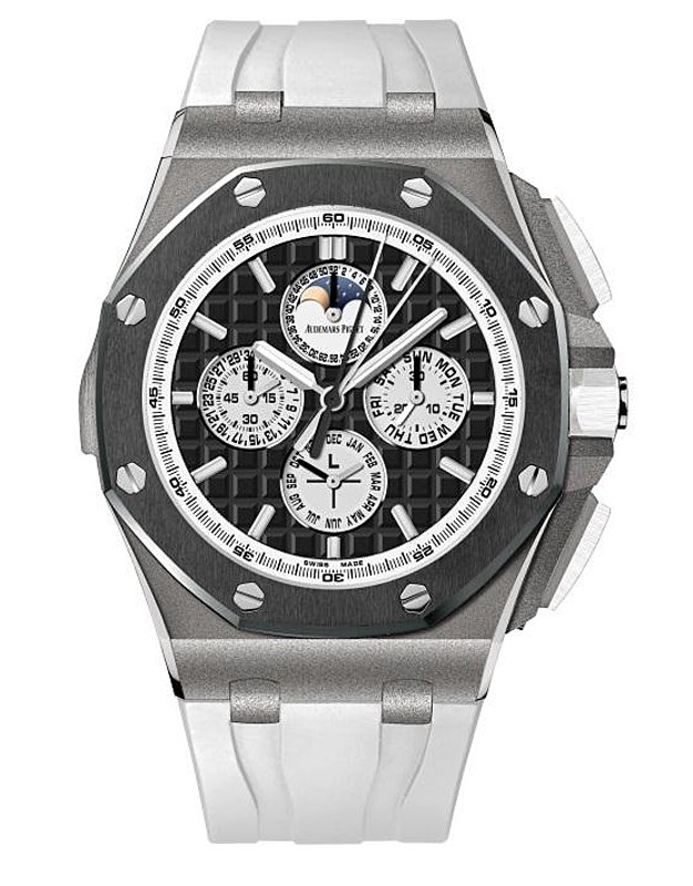 Audemars Piguet Royal Oak Offshore Chronograph Perpetual Calendar Titanium Mens Watch 26570IO. OO. A01