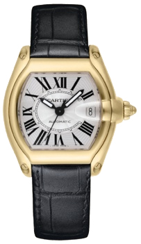 Cartier Roadster 18KT Yellow Gold Mens Watch W62005V2
