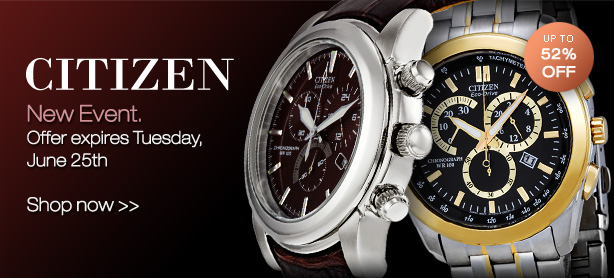 Save Up to 52% OFF Citizen Watches Plus FREE Shipping @ Jomashop.com