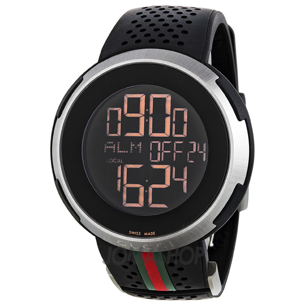 gucci i gucci digital black rubber s