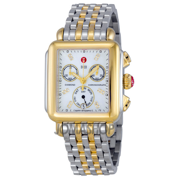michele signature deco of pearl 18kt yellow gold