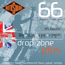 RotoSound Swing Bass 4 String Drop Zone+ Roundwound Long Scale, .085 - .175, RS66LH+