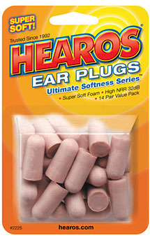 Hearos Foam Disposable 32 dB Ear Plugs, 28 Pack, 2225