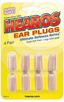Hearos Foam Disposable 32 dB Ear Plugs, 8 Pack, 2414
