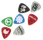 D'Addario/Planet Waves Woodstock Pick Collection Light Gauge 10-Pack, 1CAC2-10WS