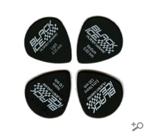 D'Addario/Planet Waves Black Ice (Jazz) Guitar Picks Heavy Gauge 100-Pack, 3DBK6-100