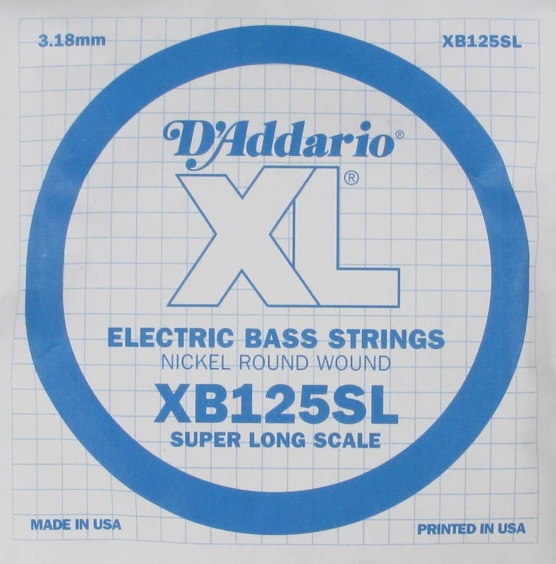 D'Addario Electric Bass Nickel Round Wound Super Long Scale .125, XB125SL