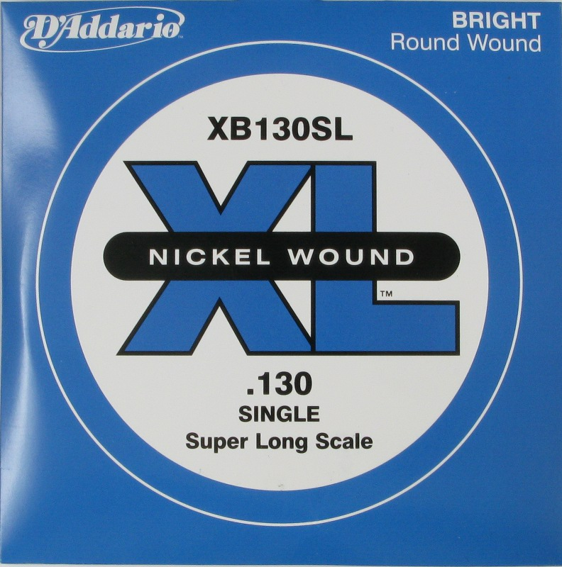 D'Addario Electric Bass Nickel Round Wound Super Long Scale .130, XB130SL