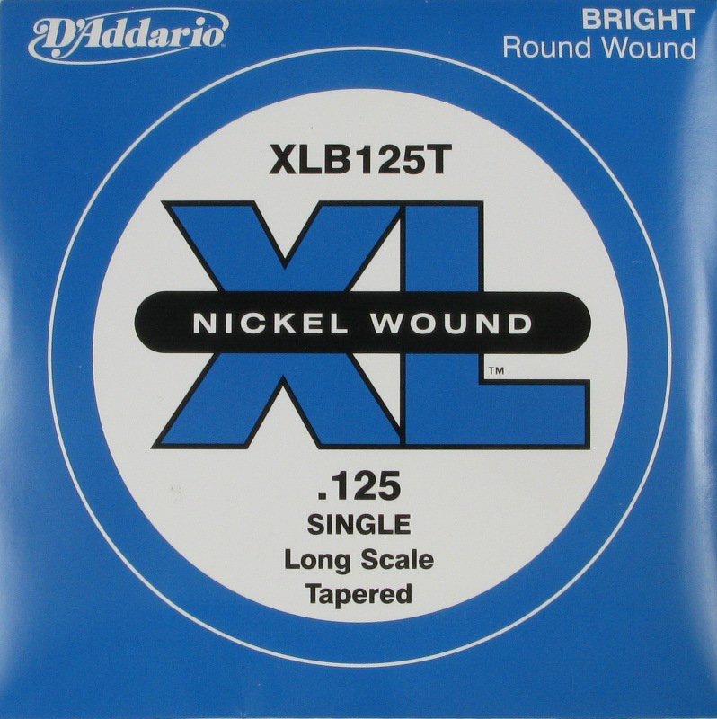 D'Addario Electric Bass Nickel Round Wound XL .125 Tapered, XLB125T